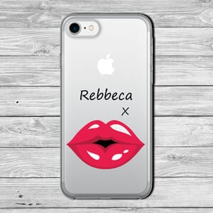 red lips Customise with your name