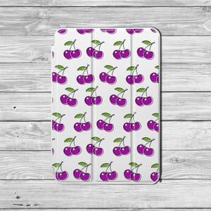 Purple Cherries Ipad case design