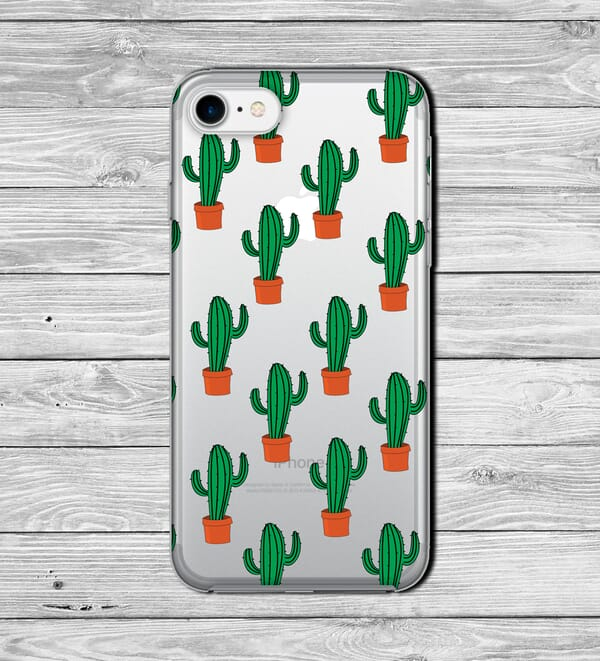 cactus design iphone case