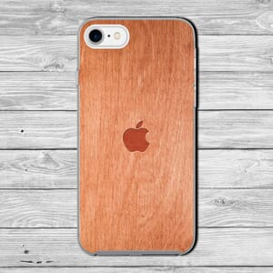 Apple Iphone logo wood effect